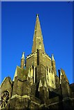 TQ3386 : Tower and spire, Abney Park cemetery chapel by Julian Osley