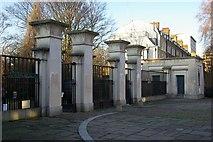 TQ3386 : Entrance gates, Abney Park Cemetery by Julian Osley