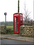 TF9740 : Old K6 telephone box in Westgate by Evelyn Simak