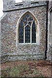 TL4538 : Holy Trinity, Chrishall, Essex - Window by John Salmon