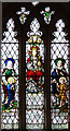 TL4538 : Holy Trinity, Chrishall, Essex - Stained glass window by John Salmon