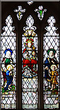 TL4538 : Holy Trinity, Chrishall, Essex - Stained glass window by John Salmon