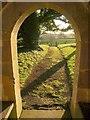 SS7402 : Path from the church, Clannaborough by Derek Harper