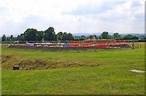 SJ5608 : Wroxeter Roman City (08) - construction of a new Roman Villa by P L Chadwick