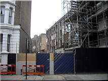 TQ2677 : Collapsed building in Fulham Road, Chelsea by PAUL FARMER