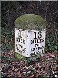 TQ4265 : Milestone on the A21 northwest of Locksbottom by Mike Quinn