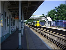 TQ2262 : Train at Ewell East station by David Howard