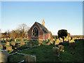TM0588 : Chapel in Banham New Cemetery by Adrian S Pye