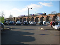 SO8455 : A train crossing the viaduct by Philip Halling