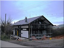 SO2956 : New house under construction, Kingswood Road, Kington by John Brightley