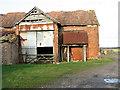 TM0887 : Old barn at Cypress Farm, Banham by Evelyn Simak