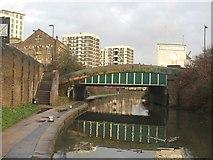 TQ3283 : Rosemary Branch Bridge by Derek Harper