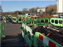 SX9066 : Barriers, Barton Hill Way by Derek Harper