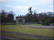 NS3586 : The gates to Rossdhu House, west bank of Loch Lomond by Ian S