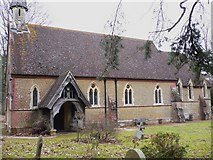 TQ0241 : Grafham church southern elevation with porch by Shazz
