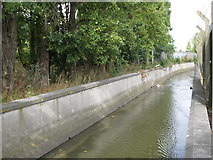 TQ3772 : The River Ravensbourne west of Bromley Road Retail Park, SE6 by Mike Quinn