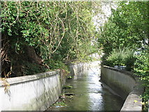 TQ3772 : The River Ravensbourne west of Bromley Road Retail Park, SE6 (3) by Mike Quinn