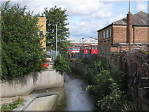 TQ3772 : The River Ravensbourne by Franthorne Way, SE6 by Mike Quinn