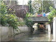 TQ3772 : The River Ravensbourne by Franthorne Way, SE6 (2) by Mike Quinn