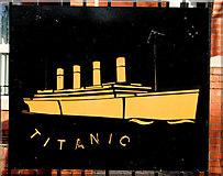 """J3574 : """"Titanic"""" plaque, Belfast by Albert Bridge"""
