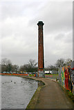 TQ3681 : 'Chimney' beside Regent's Canal by David Kemp
