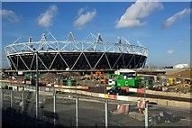 TQ3783 : The 2012 Olympics stadium under construction (February 2011) by Julian Osley