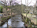 SD9807 : River Tame, Delph by David Dixon