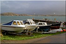 NM2824 : Small boats hauled out on Iona by Alan Reid
