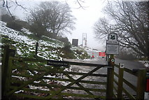 SO4494 : Entering the National Trust Land, Burway Rd by N Chadwick