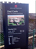 TR3752 : Deal Castle Sign by Helmut Zozmann