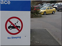 SY2289 : Beer: no sleeping in the car park by Chris Downer