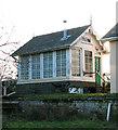 TG0526 : Guestwick railway station signal box by Evelyn Simak