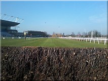 TQ1070 : View from the final fence at Kempton Park racecourse by John Light