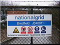 TM2651 : Gas Pumping Station sign, Bredfield by Adrian Cable