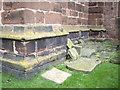 SJ4966 : Cut Mark and Flush Bracket, St Andrew's Church, Tarvin by VBForever