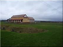 SJ5608 : The replica Roman villa at Wroxeter by Jeremy Bolwell