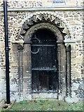 TL7835 : Norman door, St Nicholas Church, Castle Hedingham by Oxyman