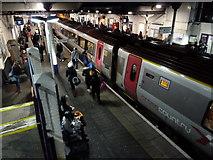 SO9322 : Cheltenham Spa Station on a Sunday evening by Chris Allen