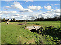 TG0436 : Small brick bridge over a stream at Thornage by Adrian S Pye
