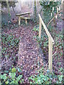 TM2852 : Footbridge & Stile on footpath next to Hospital Grove by Adrian Cable