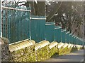 ST3087 : Boundary wall and railings, Belle Vue Park by Robin Drayton