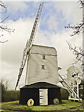 TM4077 : Holton 18th century post-mill by Adrian S Pye