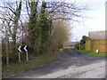TM3468 : Footpath to the A1120 Badingham Road by Adrian Cable
