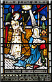 TG2439 : St Mary's church in Northrepps - east window (detail) by Evelyn Simak