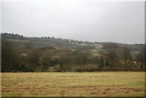 TQ0147 : View north towards the North Downs by N Chadwick
