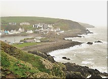 NW9954 : Portpatrick on a wet day by Ann Cook
