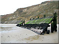 TG2640 : The end of the revetment below Sidestrand by Evelyn Simak