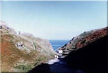 SX0588 : Footpath to Tintagel Castle by nick macneill