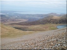 SH6161 : View north-northeast from the slopes of Elidir Fawr by Eric Jones