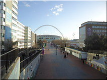 TQ1986 : Olympic Way, Wembley by Stacey Harris